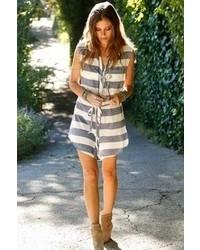 Lexie cotton tank dress in bluewhite stripe medium 68240