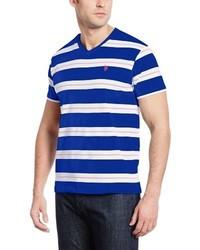 U s polo assn tri toned engineered stripe v neck t shirt medium 349884