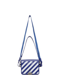 Off-White Blue And White Diag Flap Bag