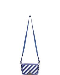 Off-White Blue And White Mini Diag Flap Bag
