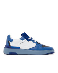 Givenchy Blue Three Toned Wing Low Sneakers