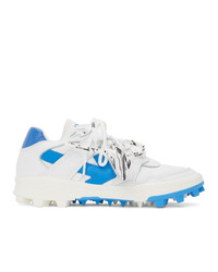 Off-White White And Blue Mountain Cleats Sneakers