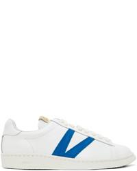 VISVIM White Blue Leather Corda Folk Sneakers