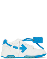 Off-White White Blue Out Of Office Sneakers
