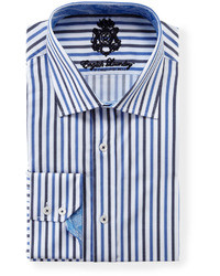 White and Blue Long Sleeve Shirt