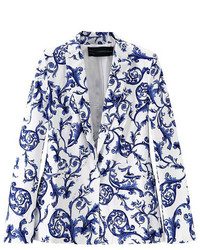 Blue and white porcelain print blazer medium 118473