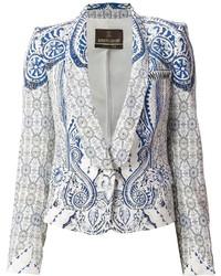 Roberto cavalli printed blazer medium 118474