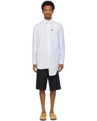 Loewe Blue Asymmetric Multi Pocket Shirt