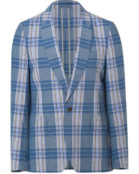 Paul Smith Ps By Bluewhite Plaid Cotton Blazer