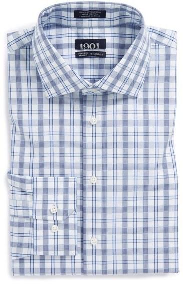 Discount Geniue Stockist Plaid Trim Fit Dress Shirt Authentic Online 72dwIVB