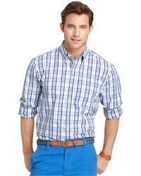 Izod Long Sleeve Large Plaid Essential Shirt