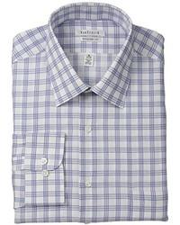 Van Heusen Regular Fit Blue White Check