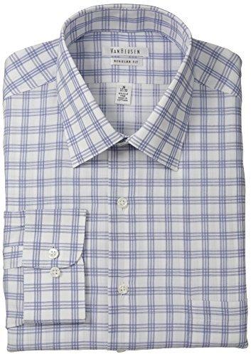 43fec20a5af ... Shirts Van Heusen Regular Fit Blue White Check