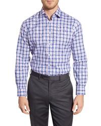 Nordstrom Men's Shop Traditional Fit Non Iron Plaid Dress Shirt