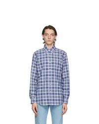 Polo Ralph Lauren Blue Oxford Plaid Shirt