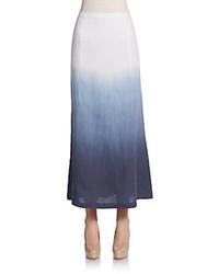 Dip Dyed Linen Maxi Skirt