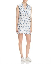 4our Dreamers Palm Print Sleeveless Shirt Dress
