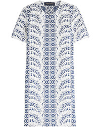 Printed cotton blend dress medium 704057