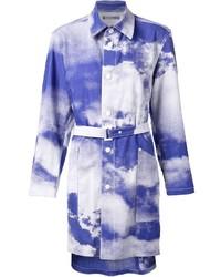 Issey miyake sky print belted coat medium 267511