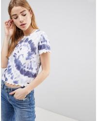 Hollister Crop Scallop Hem T Shirt