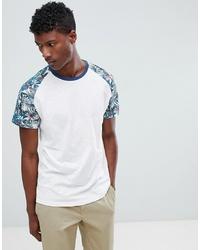 Jack & Jones Originals T Shirt With Printed Raglan Sleeve Without Print
