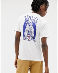 Vans T Shirt With Reaper Back Print In White Vn0a3hxuwht1