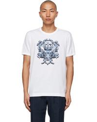 Dolce & Gabbana White Heraldic Print T Shirt
