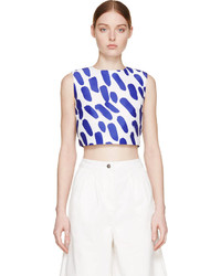 Edit Cobalt Spotted Cropped Top