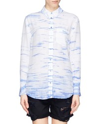 Equipment Reese Tie Dye Print Silk Shirt
