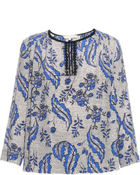 Diaz ivy print silk crepe blouse medium 3830094