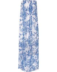 Kiernan printed silk chiffon maxi dress medium 338512