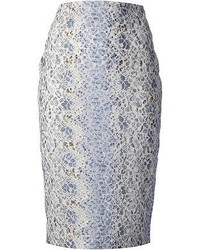 Ermanno Scervino Floral Lace Pencil Skirt