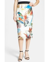 Milly Print Pencil Skirt