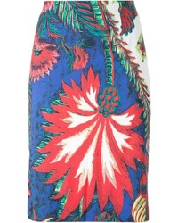 Roberto Cavalli Palm Tree Printed Skirt