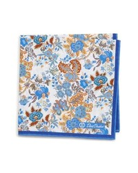 David Donahue Floral Cotton Pocket Square