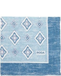 Roda Neat Pocket Square Blue