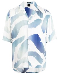 BOSS Leaf Print Modal Shirt
