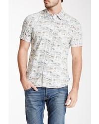 The Fresh Brand Short Sleeve Reverse Comic Print Woven Shirt