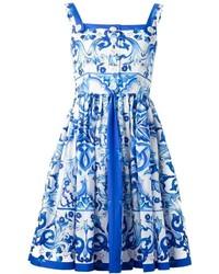 Dolce gabbana majolica print dress medium 309014