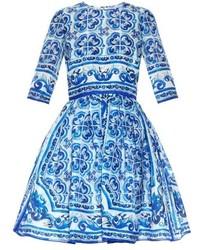 Majolica print silk organza dress medium 309012
