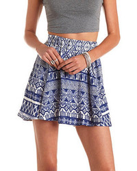 High waisted tribal print skater skirt medium 114592