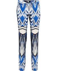 Ikat print silk slim leg pants medium 47435