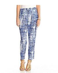 Indigo wave print pants medium 251938