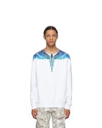 Marcelo Burlon County of Milan White And Blue Wings Sweatshirt