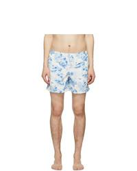Bather Blue And White Toile Swim Shorts