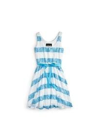 White and blue skater dress original 3043419