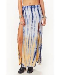 Blue Life 2 Slit Skirt