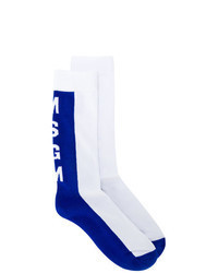 White and Blue Socks