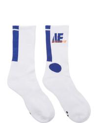 Ader Error White Colorblock Socks