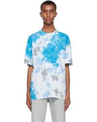 Nike Blue Tie Dye Sportswear Premium Essentials T Shirt
